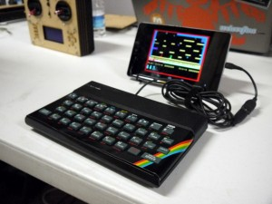 A ZX Spectrum converted in to a USB keyboard on show at Manchester Mini Maker faire.